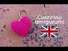 Little Heart keychain amigurumi   World Of Amigurumi - YouTube