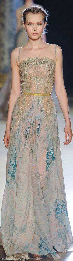 Elie Saab | Haute Couture F/W 2012 Personally I'd remove the straps but its beautiful