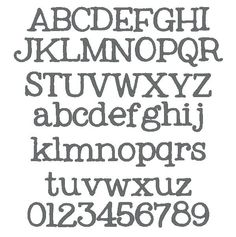 MCA Old Typewriter Embroidery Font - $4.99 : MCA Applique, Designs ...