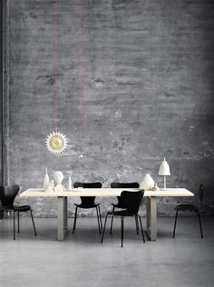 Republic of Fritz Hansen is an exclusive, international design brand whose timeless collection unites world-famous classic and contemporary furniture, lighting and accessories. Pop Design, Modern Design, Arne Jacobsen, Dining Room Inspiration, Interior Design Inspiration, Muuto, Vintage Pendant Lighting, Kartell, Contemporary Furniture
