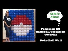 Pokémon GO Balloon Decoration - Poké Ball Wall - YouTube
