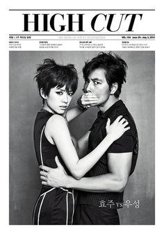 Jung Woo Sung and Han Hyo Joo
