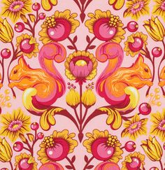 LAMINATE Tula Pink Squirrel in Sunset from The by ModernQuilter, $16.25
