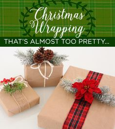 There is no time like the present to get ready for Christmas.  Get crafty this year and add some special touches to your gifts with these DIY wrapping ideas.
