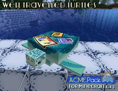 Tumbleberry hit this one out of the park, but then that's what happens when you refer to nature. The fact that turtles travel around the world in jet streams is amazing, and this is a fun way to present it! What Happens When You, Travel Around The World, Turtles, Minecraft, Jet, Presents, Packing, Texture, Shit Happens