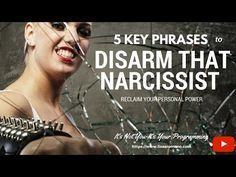 5 Key phrases to disarm a narcissist so you can reclaim your emotional control. Narcissistic abuse is a form of bullying mind control, and it is about domina. Narcissistic Mother, Narcissistic Behavior, Narcissistic Sociopath, Narcissistic Personality Disorder, Narcissist Father, Abusive Relationship, Toxic Relationships, Healthy Relationships, Emotional Abuse