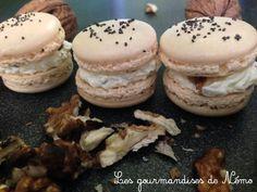 Macarons salés boursin et noix