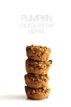 Pumpkin Chocolate Chip Muffins--vegan, gluten-free, kid-friendly, and delicious! | Hummusapien