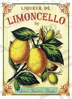 Limoncello Label Custom Limoncello Bottle by WAGlacierGraphics