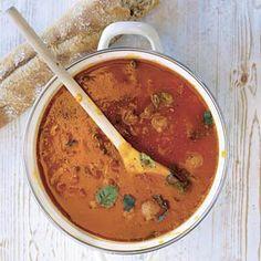 Clara's tomatensoep, zelf toevoegen wortel en paprika, evt courgette