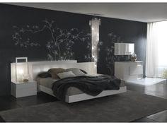 Bedroom Sets White modloft modern furniture official store: hb39a-ck worth cal king