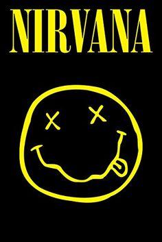 Poster S, Poster Wall, Poster Prints, Nirvana Logo, Nirvana Art, Nirvana Album Cover, Rock Band Posters, Rock Band Logos, Music Album Covers