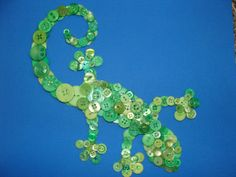 Gecko Button Art on Etsy, $50.00 CAD