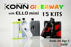 Eleaf iKonn Total with ELLO mini GIVEAWAY