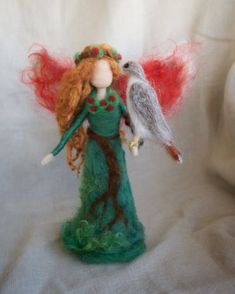 Yuletide Fairy Woodland Needle Felted by Needle Felt Artist ClaudiaMarieFelt on Etsy
