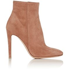 Gianvito Rossi Women's Dree Ankle Boots (€890) ❤ liked on Polyvore featuring shoes, boots, ankle booties, ankle boots, colorless, suede ankle booties, suede ankle boots, suede high heel boots, bootie boots and suede ankle bootie