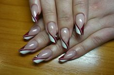 Татьяна Татьяна - Photo from album Frensh Nails, French Manicure Nails, French Tip Nails, Diy Nails, Hair And Nails, Red Nail Designs, French Nail Designs, Nail Designs Spring, Nail Photos