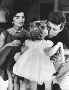 JFK, Jackie, and Caroline, c. 1961