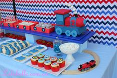 What a cute train cake made by Lulabelle! Train party themes are always fabulous for birthday party ideas for girls and boys! Thomas Birthday, Trains Birthday Party, Train Party, 3rd Birthday Parties, 2nd Birthday, Happy Party, Party Entertainment, Decoration, Cakes