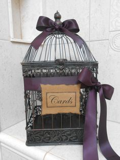 Birdcage Wedding Card Holder / Card Box / Wedding Birdcage Cardholder on Etsy, $68.72 CAD