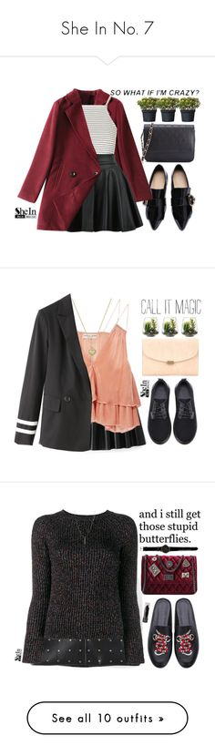 """""""She In No. 7"""" by m-zineta on Polyvore featuring Topshop, WithChic, Apiece Apart, Threshold, Mansur Gavriel, Michael Kors, Valentino, ASOS, Allstate Floral and Charlotte Olympia"""