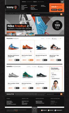 Icony Shoes Store by Mateusz Kolebuk, via Behance