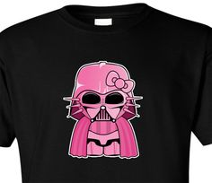 T Shirt Hello Kitty Darth Vader Pink Star Wars Empire Jedi Force ...