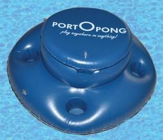 Portopong Floating Cooler with Drink Holders - bachelor party gear Floating Beer Pong Table, Floating Cooler, Beer Pong Tables, Groomsmen Gifts Unique, Groomsman Gifts, Sand And Water Table, Water Tables, Inflatable Float, Float Trip