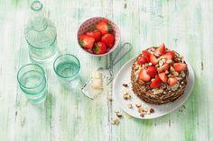 Volkorenpannenkoekentaart Breakfast Dessert, 20 Min, Cooking With Kids, Cupcake Cakes, Cupcakes, Food Inspiration, Love Food, Acai Bowl, Delicious Desserts