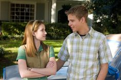 Still of Emma Roberts and Max Thieriot in Nancy Drew movie Nancy  wears cute outfits