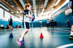 Girls play Rugbytots too. Gym Equipment, Basketball Court, Exercise, Play, Girls, Ejercicio, Toddler Girls, Daughters, Maids