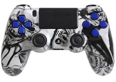 PlayStation 4 DualShock 4 Custom PS4 Controller with White Nightmare Shell   eBay #customcontroller #ps4controller #moddedcontroller #customps4controller
