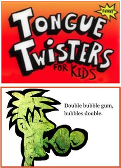 Tongue Twister for Kids - Free eBook for Kindle and iBook. It is a fun activity with kids no matter where you are - see who can say the tongue twister faster with no mistakes. Speech Activities, Learning Activities, Learning Apps, Kids Learning, Teaching Reading, Reading Practice, Guided Reading, Free Reading, Tongue Twisters For Kids