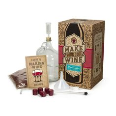 Wine Making Kit! Merlot, Cab Sauvignon, Pinot Grigio, or Chardonnay. $60 Also, Beer and Hard Cider Making Kits for $45.