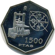 1500 Pesetas 2000 Cambio de Milenio Imprenta. Madrid Legos, Nostalgia, Coins, Stamp, Plastic, Money, Personalized Items, Retro, Paper