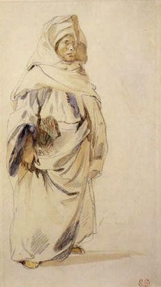 Eugene Delacroix - Un árabe en Marruecos