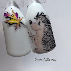Winter Nails Designs - My Cool Nail Designs Fall Nail Art Designs, Colorful Nail Designs, Cool Nail Designs, Autumn Nails, Winter Nails, Summer Nails, Nagel Stamping, Deco Disney, Animal Nail Art
