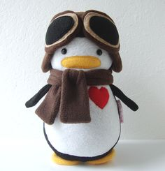 Buy this super cute stuffed penguin and different outfits on mydeardarling.com