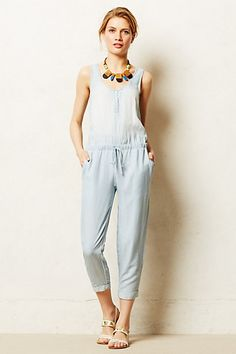 Chambray Jumpsuit - anthropologie.com
