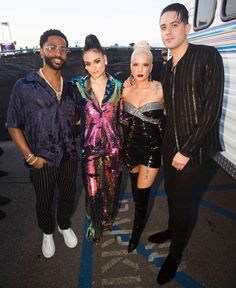 Big Sean, Kehlani, Halsey and G-Eazy at the iHeart Radio Music Awards - March 2018