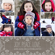Frosted With Love Christmas Card