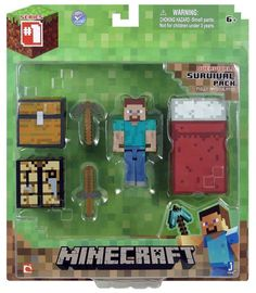 For either boy any of the plastic (not paper) minecraft toys. don't have any yet Minecraft Core Player Survival Pack Minecraft Gifts, Minecraft Video Games, Minecraft Toys, Minecraft Survival, How To Play Minecraft, Minecraft Hack, Amazing Minecraft, Minecraft Stuff, Minecraft House Tutorials