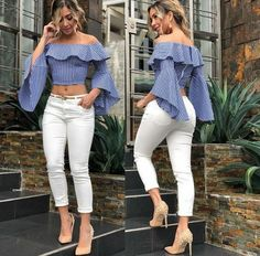 Best Summer Fashion Part 2 Classy Outfits, Cool Outfits, Summer Outfits, Casual Outfits, Blouse Styles, Blouse Designs, Girl Fashion, Fashion Dresses, Womens Fashion