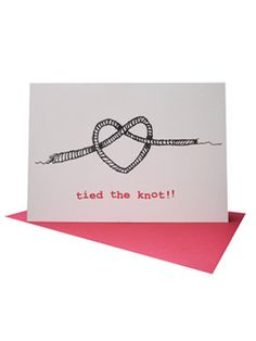 Tied The Knot Wedding Card