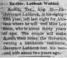 Stone Gardens: Wednesday's Wedding - Gov. & Mrs. Francis R. Lubbock #genealogy #familyhistory