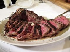 """#3: New York Strip Steak — Pappas Bros. Steakhouse : """"Everything is big in Texas"""" certainly applies to the New York strip steak at Pappas Bros. Steakhouse in Houston. Executive Chef Michael Velardi insists on buying and dry-aging his meat in bulk to ensure a controlled cut of steak. This 32-ounce piece of marbled meat is broiled with the basics — salt, pepper and butter — and then is served bone-in and carved tableside for two."""