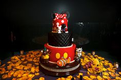 Mickey and Minnie Inspired Wedding Cake