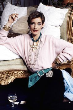 Always dressed to the nines, late Parisian socialite and jewelry designer Loulou de la Falaise, here in 1984, was a muse to Yves Saint Laurent.