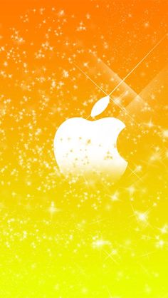 Apple yellow stars background iPhone 5 (5S) (5C) wallpaper - 640x1136