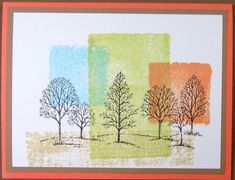 Color Block Trees by Hawkeye Stamper - Cards and Paper Crafts at Splitcoaststampers